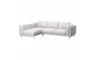 NOCKEBY 2-zitsbank met chaise longue links