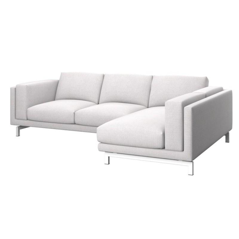 nockeby 2 zitsbank met chaise longue rechts soferia